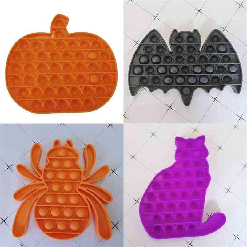 Halloween Theme Pops Pops Fidget Brinquedos Sensory Bubble Popping Rato Abóbora Aranha Gato Lua Ghost Hallowmas Imagem Poo-Seu Dedo Puzzle Party Gift H81WJQ4