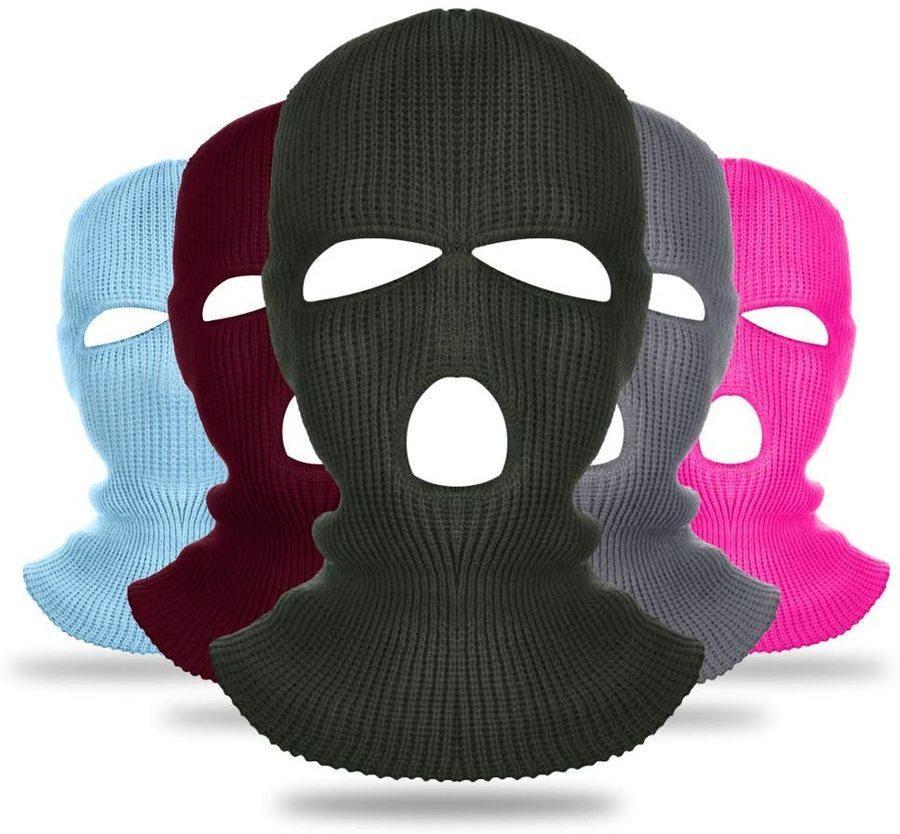 Benutzerdefinierte Großhandel Winter Hüte 3 Löcher Full Face Cover Design Deine eigene Beanie Ski Maske Balaclava WCFN