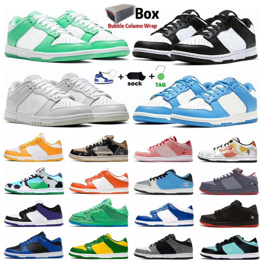 2021 Dunk Ayakkabı Fil SB Dunks Koşu Ayakkabı Siyah Beyaz UNC Tıknaz Dunky Bred Üniversitesi Kırmızı Mahkeme Mor Kentucky Spor Açık Erkek Kadın Sneakers