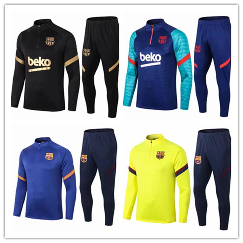 FC Barcelona Messi F.de Jong Soccer Jerseys Fans Tops Tees Grieuzmann O.Dembele Hommes Kit Ensencage de formation en Jersey