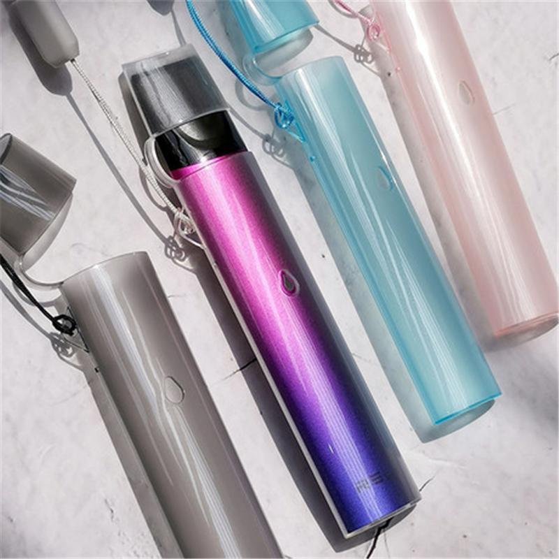 PVC şeffaf koruyucu kılıf relx klasik vape kalem pod pembe mavi gri için renkli kordon mevcut sağlıklı takım elbise