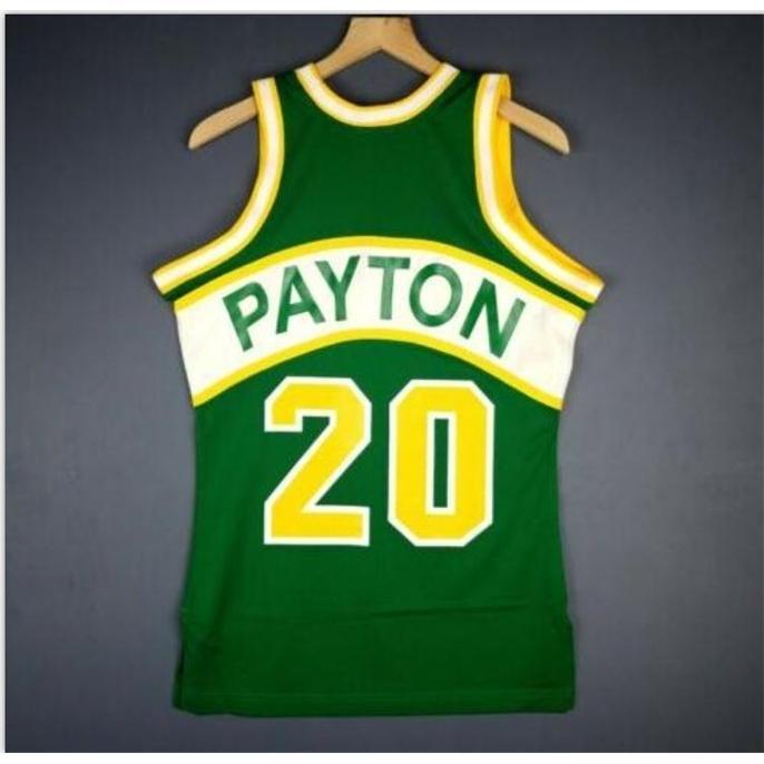 Bay Gençlik Kadınlar Vintage Gary Payton Mitchell Ness 94 95 Kolej Basketbol Forması Boyutu S-5XL veya Özel Herhangi bir isim veya numara forma