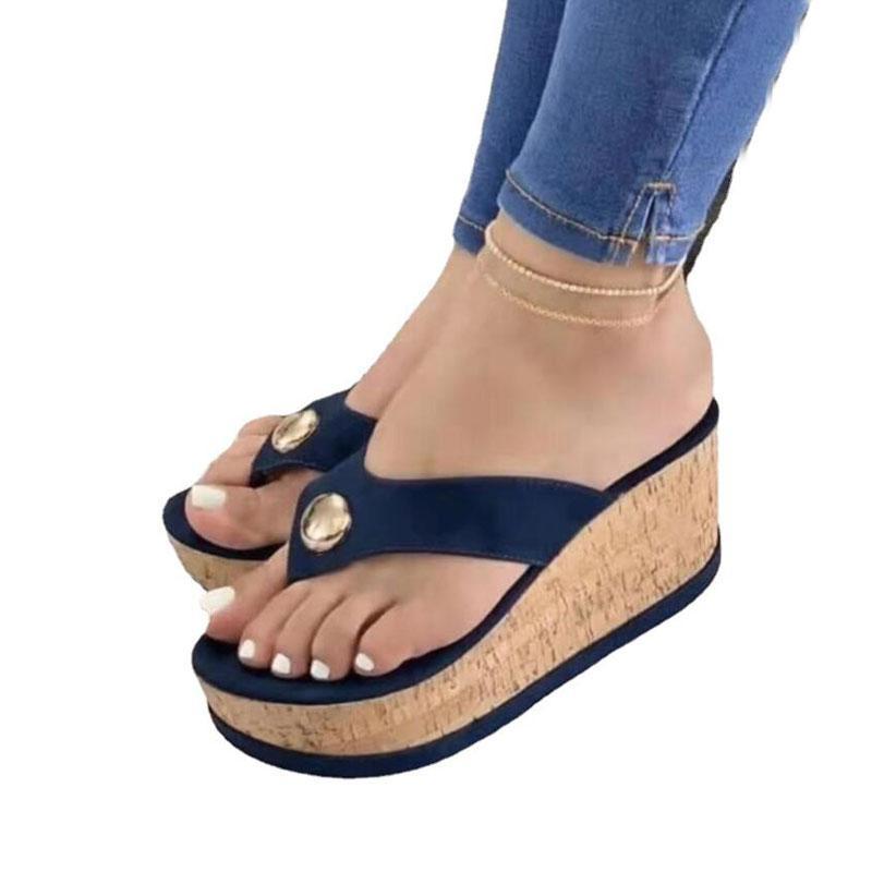عالية منصة الصنادل أسافين حذاء للنساء سميكة أسفل الأحذية عارضة الوجه فليب السيدات 2021 الصيف الإناث الوجه بالتخبط JT-1929