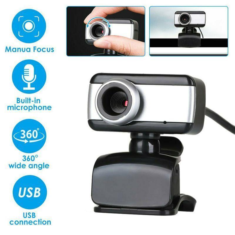 كاميرات الفيديو 480P المستهلك 360 درجة تدوير كاميرا USB HD كاميرا ويب مع ميكروفون للكمبيوتر المحمول الكمبيوتر *