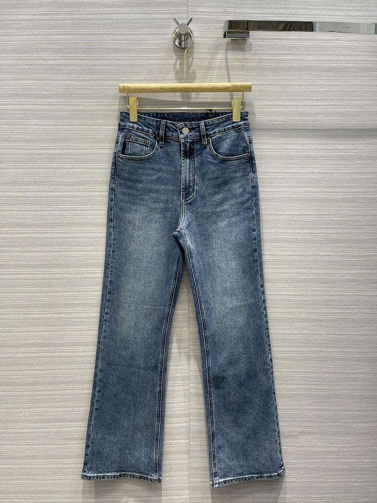 Milan Pist Jeans 2021 Yeni Moda Tasarımcısı Flare Kot Marka Aynı Stil Lüks Kadın Kotları 0325-5