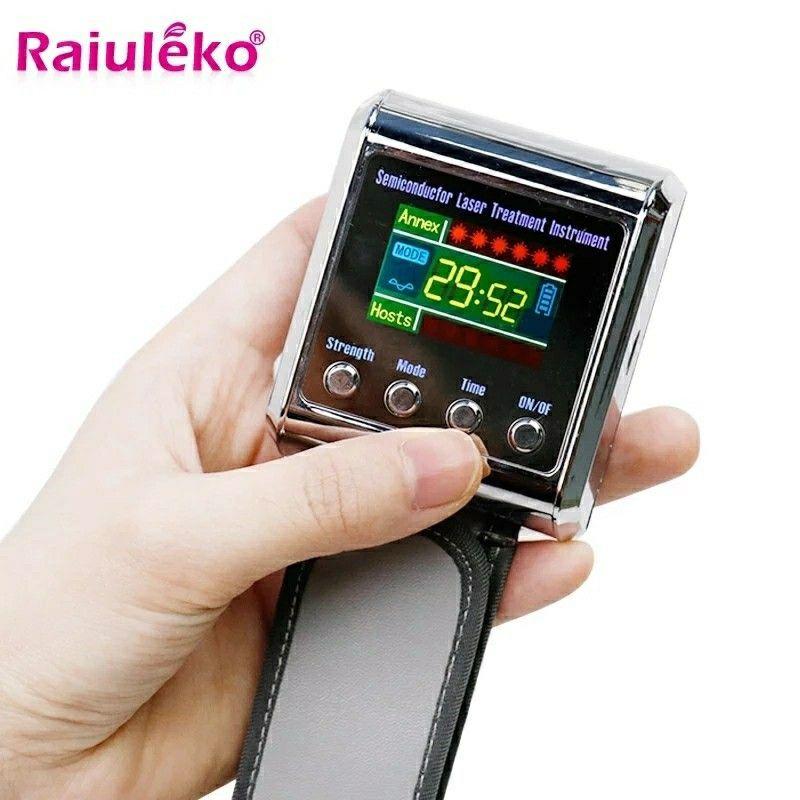 Diode de poignet de physiothérapie de 650 nm ménage LLLT pour le diabète Hypertension Traitement de diabétique Montre diabétique Laser Sinusite Thérapie