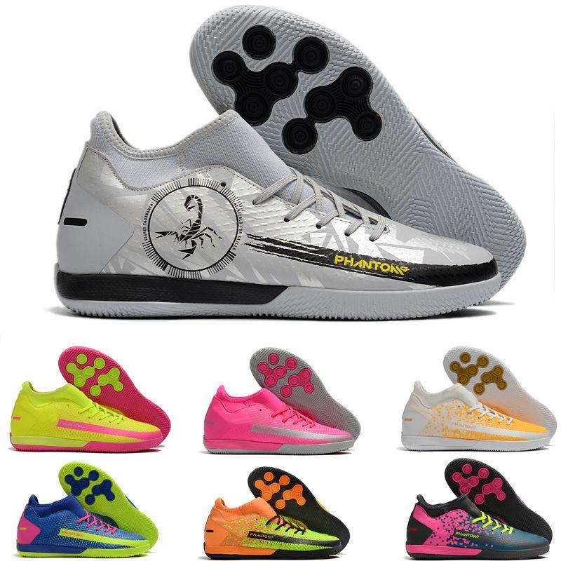 Mid Cut Flat Phantom GT Elite AG-PRO Acredite Homens Sapatos Verde Futebol Botas de Futebol Botas de Futebol