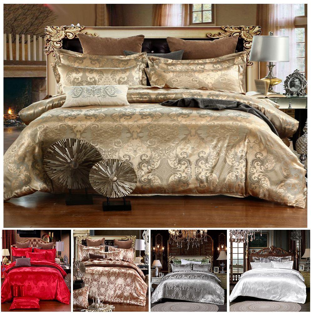Designer Jacquard Duvet Luxus Bettwäsche King Set 3 stücke Home Bett Bettdecken Sets Single Twin Queen Blätter Steppdeckenabdeckung