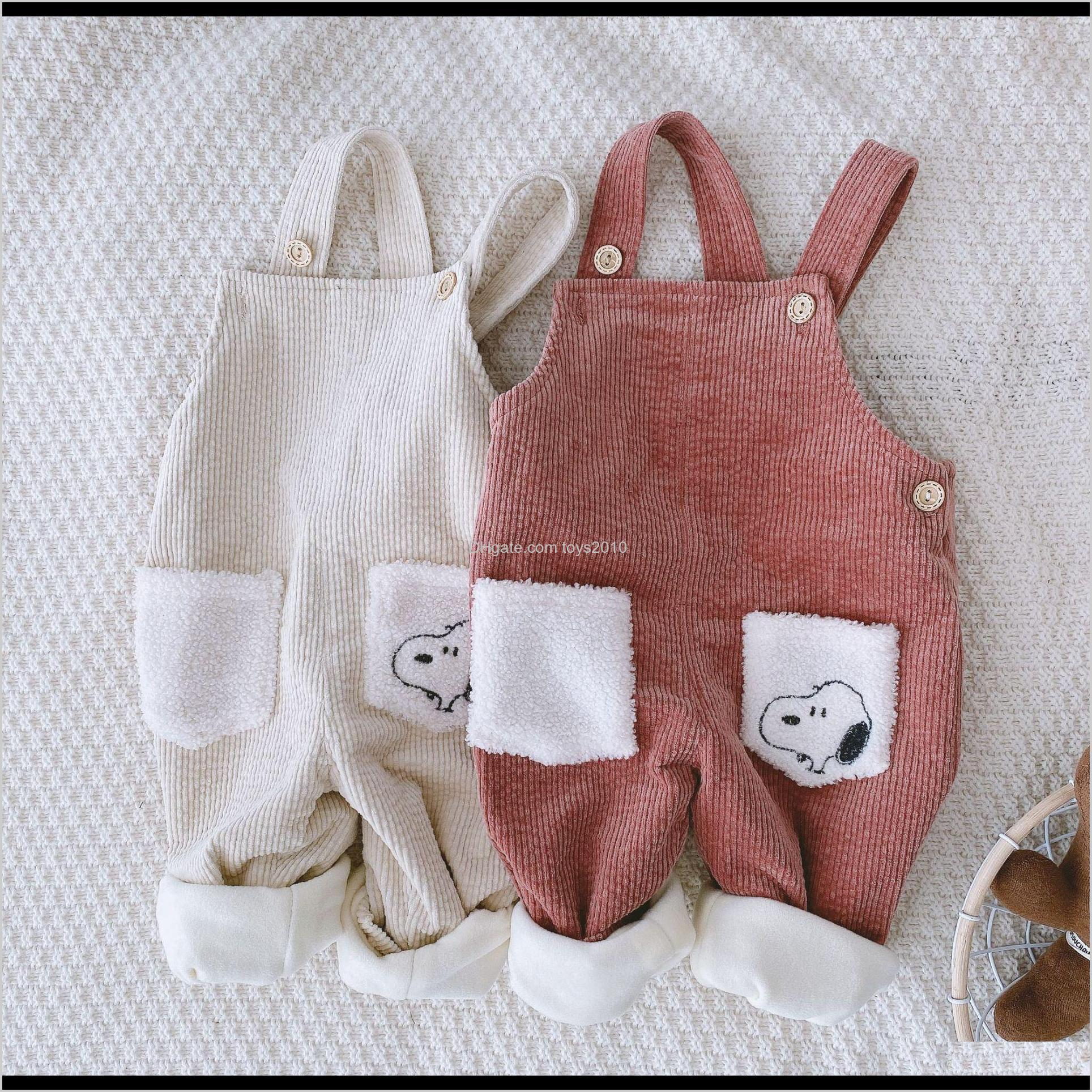Overalls Baby, & Maternity Drop Delivery 2021 Baby Corduroy Suspender Pants Plus Fleece Winter Kids Boutique Clothing Korean 1-4T Little Boys
