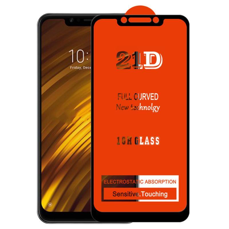 21D Full lim Skärmskydd Temperat glas Skyddsäker Böjd täckningsskydd Filmskyddsskydd för Xiaomi RedMi Not 10 Pro Max 10S 9 9S 9A 9C 9T 8 8A 8T