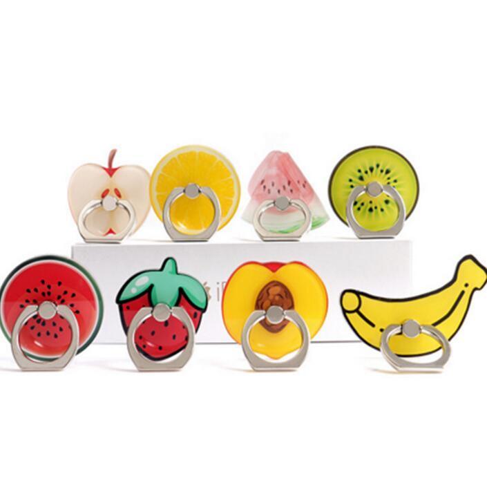 링 전화 홀더 귀여운 과일 도너츠 아크릴 핸드폰 스탠드 아이폰 삼성 태블릿 360도 손가락 홀더