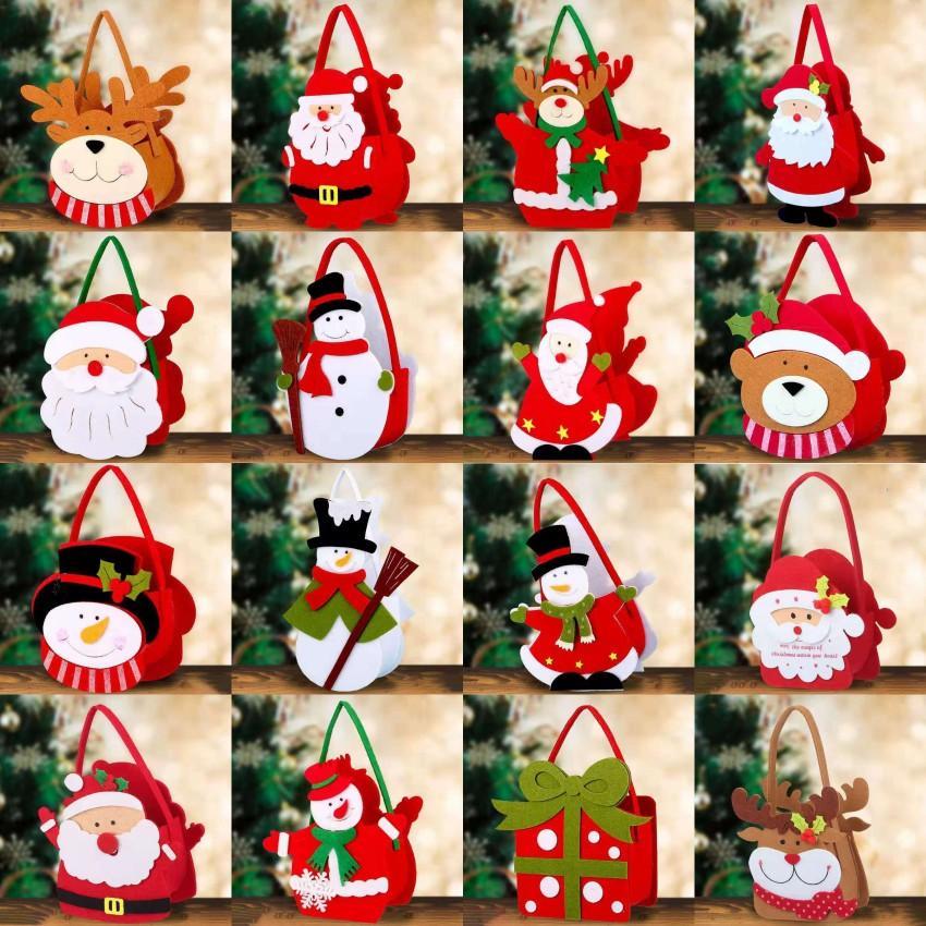 メリークリスマスの装飾サンタクロースハンドバッグクリスマスツリーぶら下がっているパーティーの家の装飾キャンディーギフトバッグFY4822