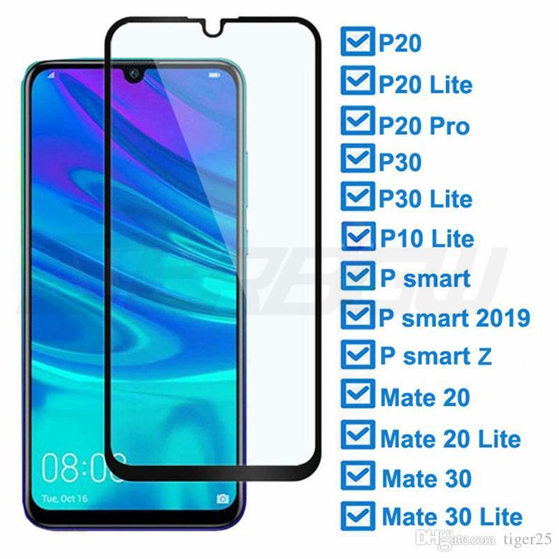 9D Vidro Temperado para Huawei P30 Lite P20 Pro P3 Smart Z 2019 Vidro Protetor para Huawei Mate 20 30 Lite Screen Protector Filme