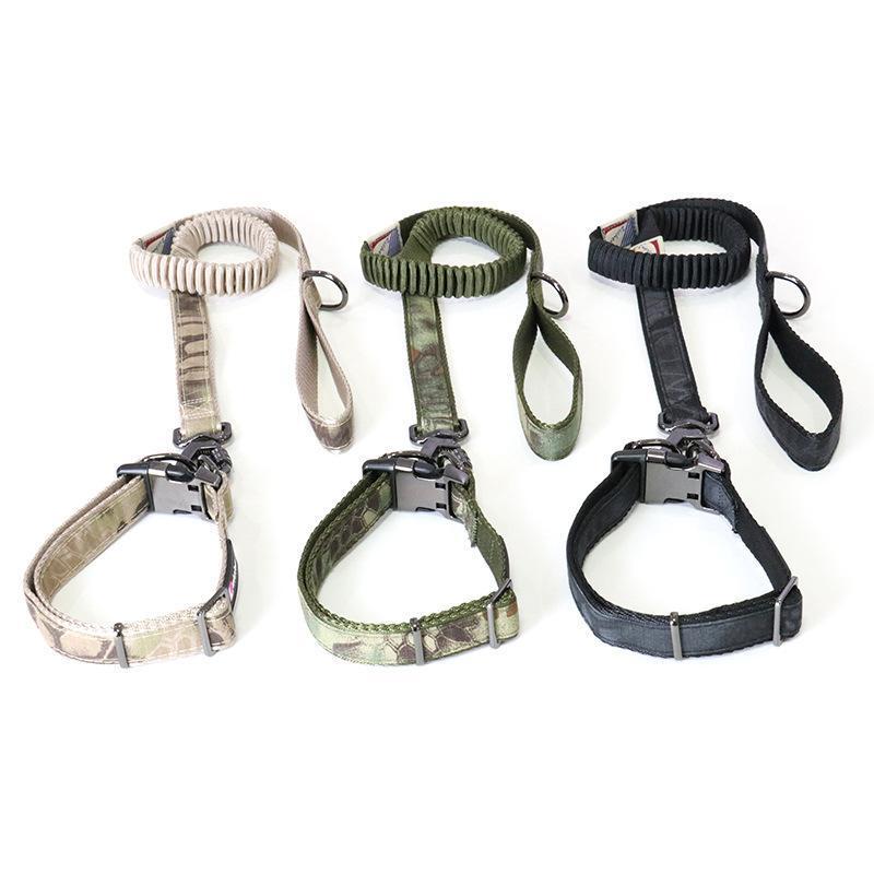 Colares Colares Leashhes Pet Nylon Collar Coleira Camuflagem Camada Dupla Ajustável Durável Para Cães Definir treinamento