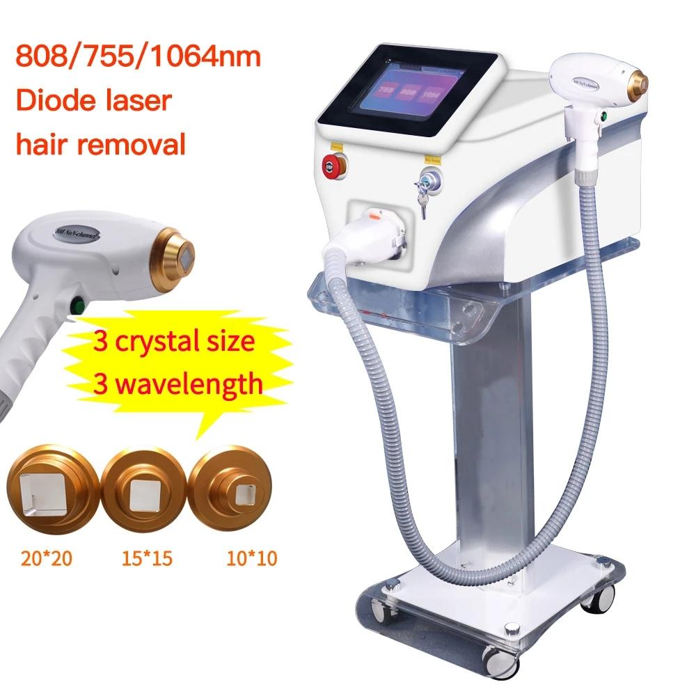 다기능 다이오드 레이저 머리 제거 기계 IPL 755nm 808nm 1064nm 여드름 치료 피부 젊 어 짐 아름다움 장비