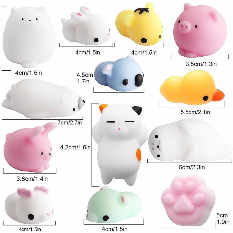 홈 FIDGET PVC 동물 압출 통풍구 완구 리바운드 QUSHY 가제트 감압 장난감 모바일 펜던트 귀여운 재미 있은 선물
