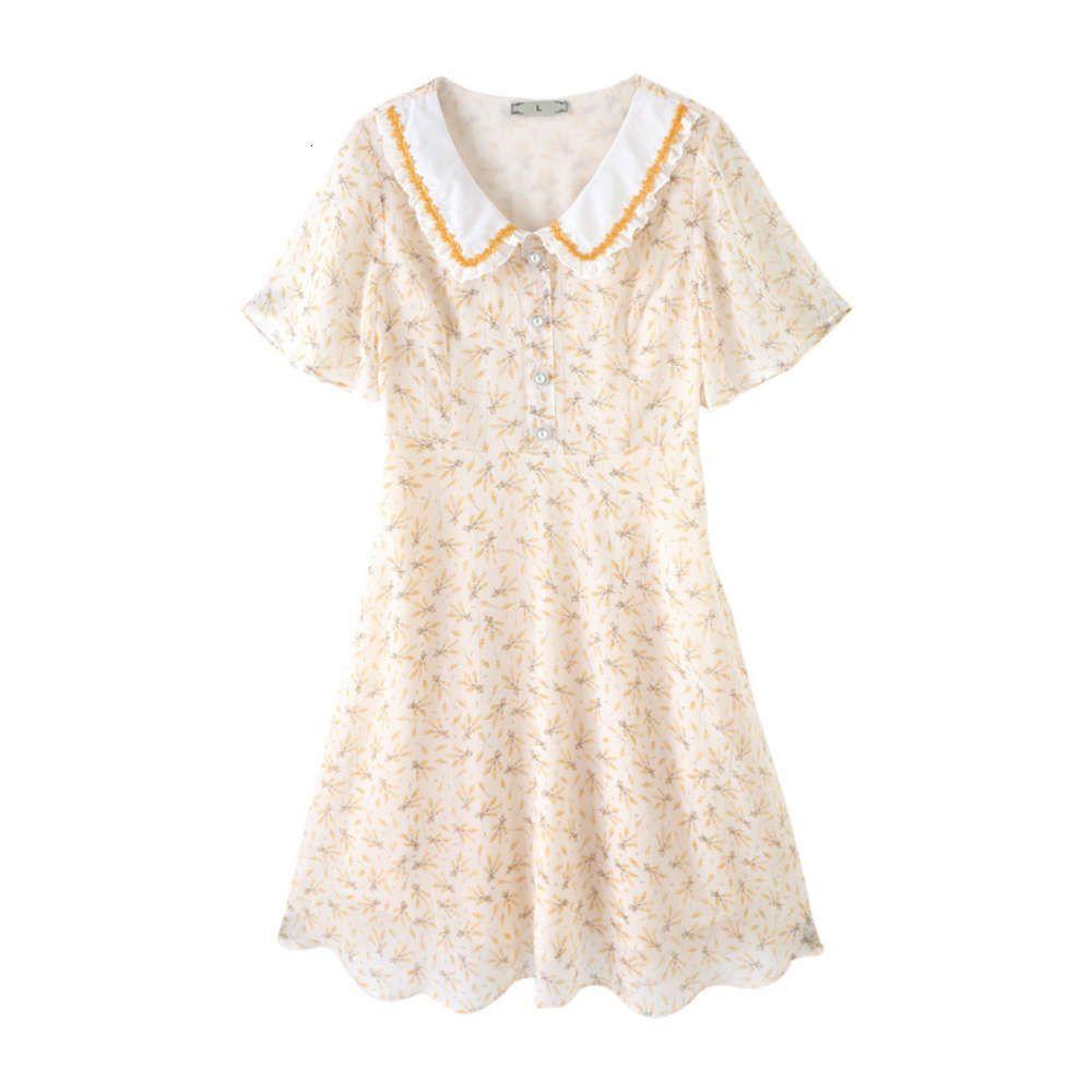 Summer MUST-HAVESUMMER NEW FAT أخت أزياء المرأة كبيرة التلبيب طباعة مزاجه ألف خط اللباس 71166
