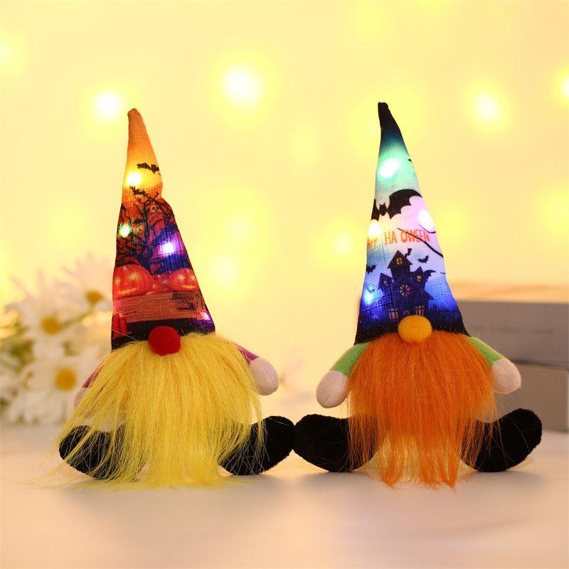 Classic Halloween Party Supplies Brillante Sin rostro Viejo Rudolph Colgante enano Ornamentos Doll