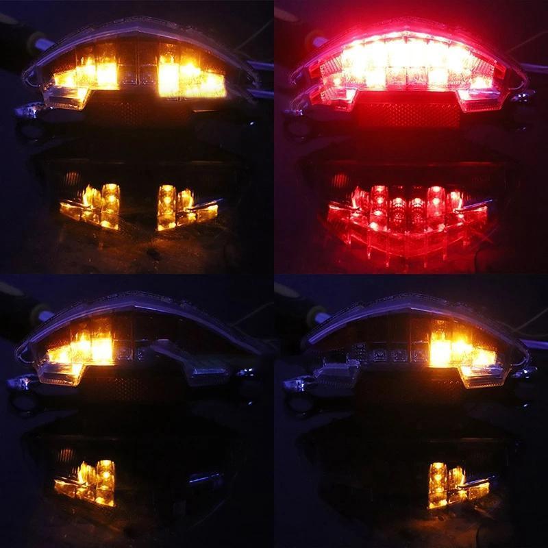 Faróis de carro para F650 F650GS F650st F800S R1200GS Motocicleta de Aventura LED traseira traseira traseira luz de freio de freio lâmpada