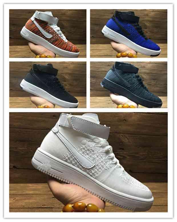 Diseño de zapatos de moda bajo uno 1 hombres mujeres volar royaums tipo respirar skate knit femme homme 36-45