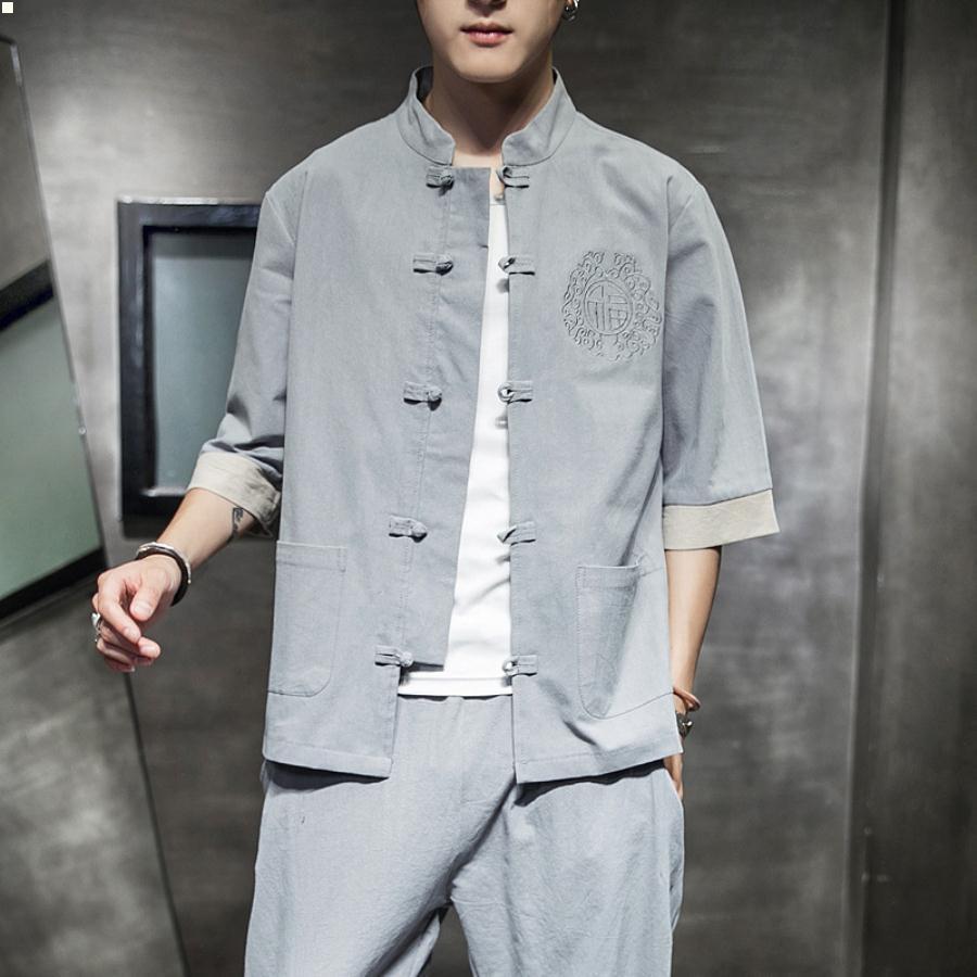 Yakalı Vintage Elbise 2021 Elbise Lüks Erkekler Giyim Basitlik Tasarımcılar Erkek Polo Gömlek Yaz Hırka Erkek T Shirt Moda Düğme Yukarı Adam 7R323