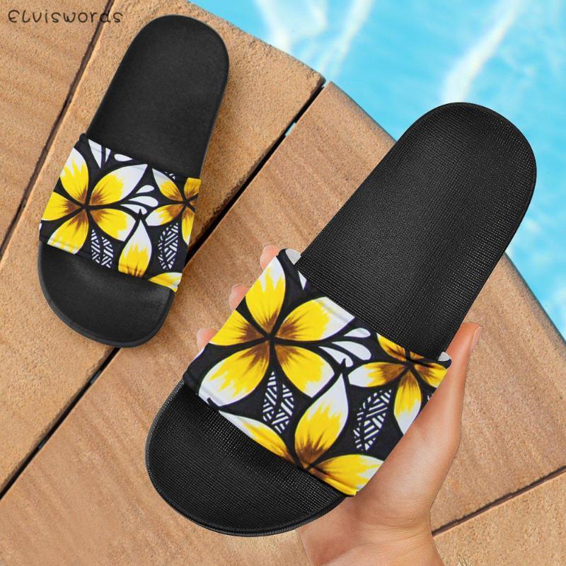 Moda Casual Pisos Zapatillas Polinesia Frangipani Pattern Men's Homen's Home Lazy Slzy Shoes