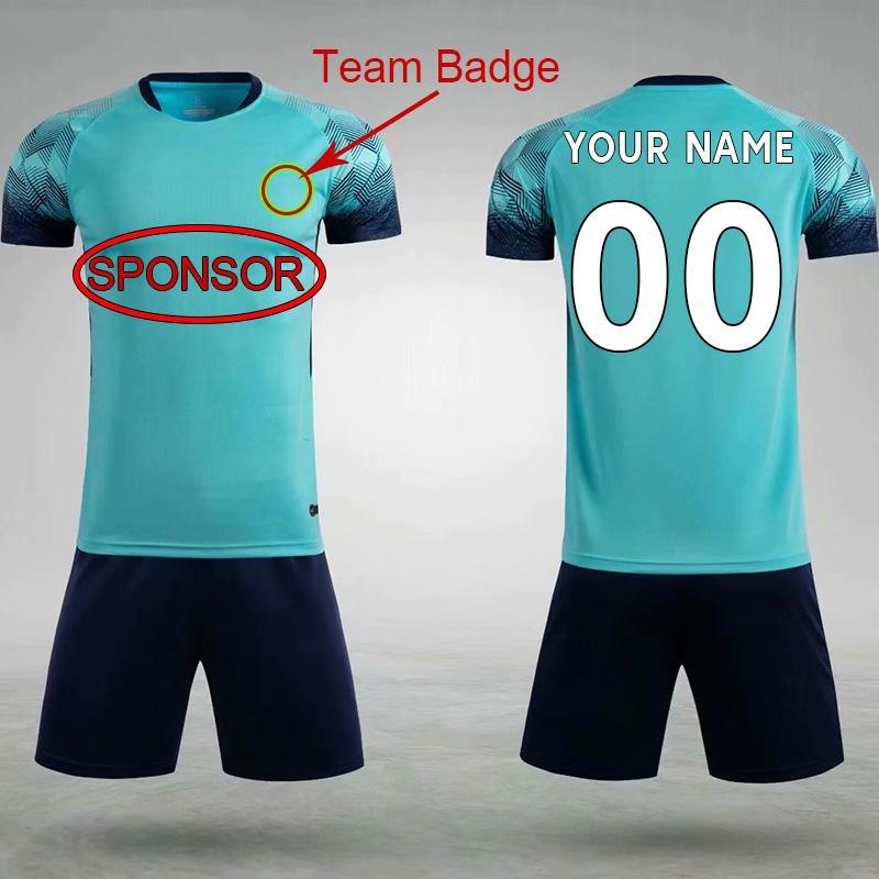 DIY Futebol Desgaste Personalizado Jersey Equipe Ordem do próprio logotipos Camisas de futebol homens mulheres equipamentos de crianças 035
