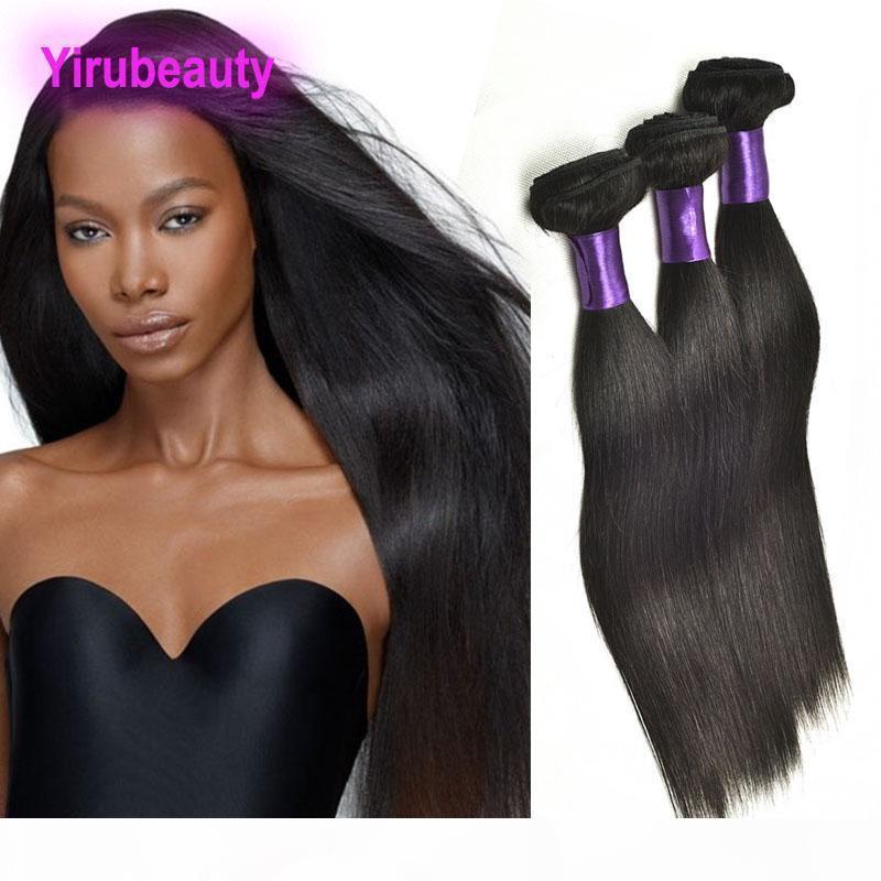 Indian Mink 9A naturale colore naturale 8-30 pollici diritti seti capelli umani 3 bundles doppio capelli wefts prodotti indiano dritto