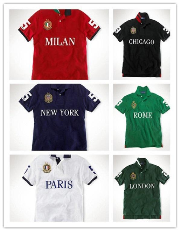 Verão de alta qualidade homens e mulheres polo bordado algodão camisas personalizadas versão americana de mangas curtas t-shirt t-shirt time camisa M-2XL plus size