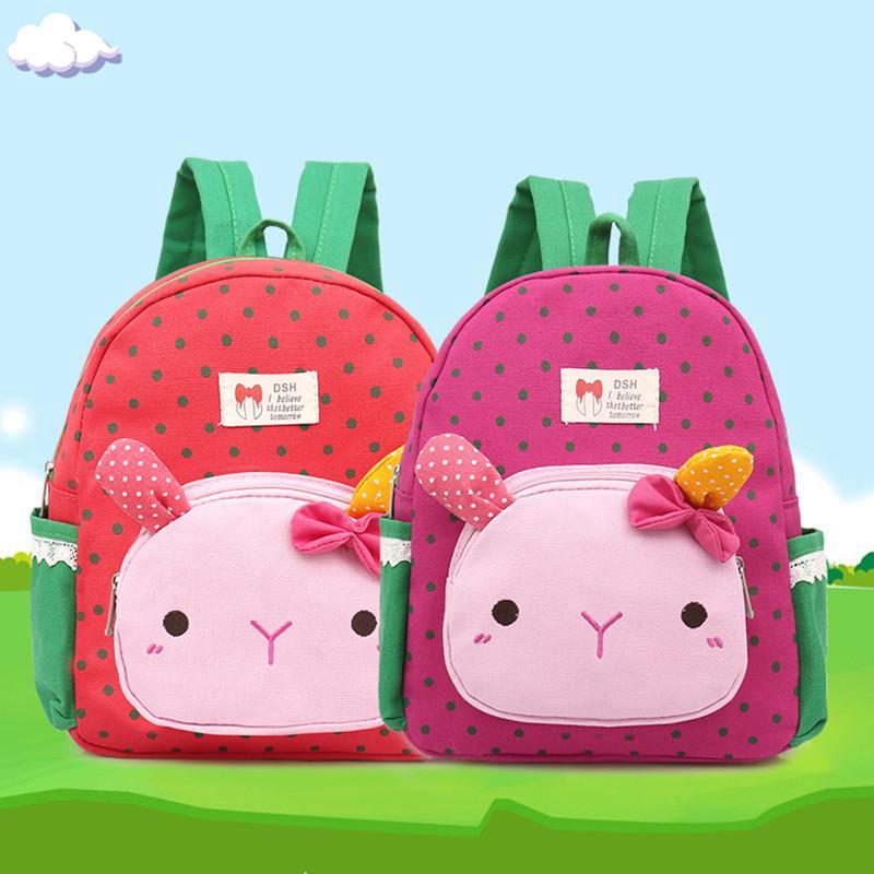 유치원 배낭 귀여운 미니 여자 schoolbag 패션 토끼 아이 메신저 가방 아이들 지갑 2-8 세