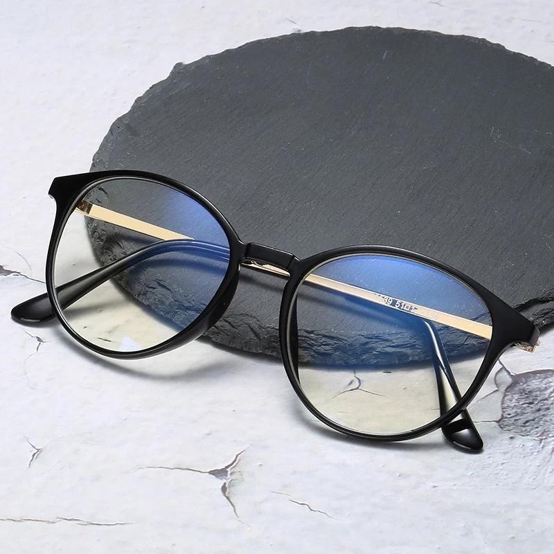 Hommes lunettes rondes rétro stylish cadre femmes zéro diopère décoration lunettes myopie fark lunettes lunettes de soleil