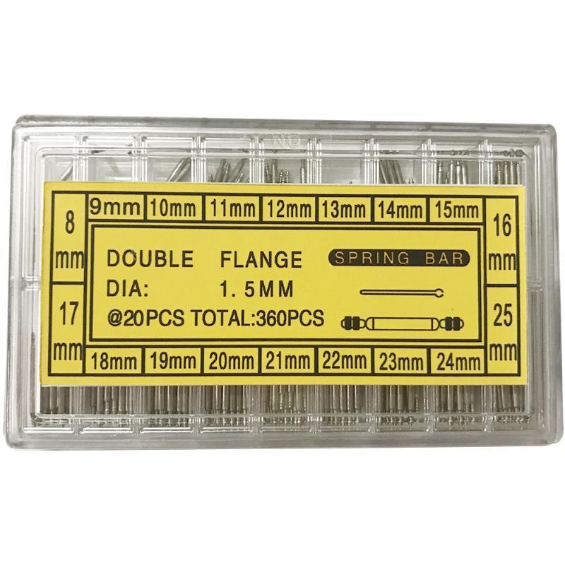 360 unids 8-25mm Removedor Herramienta Barras de reparación Kit de reloj con caja Profesional Link Pins Band Spring Tools Kits