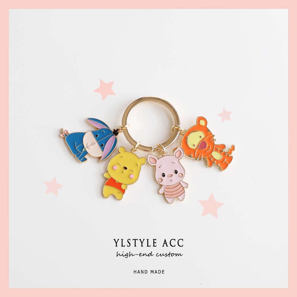 Chayylstyle acc design bonito dos desenhos animados animal chaveiro saco de cadeia amigo acessórios pingente