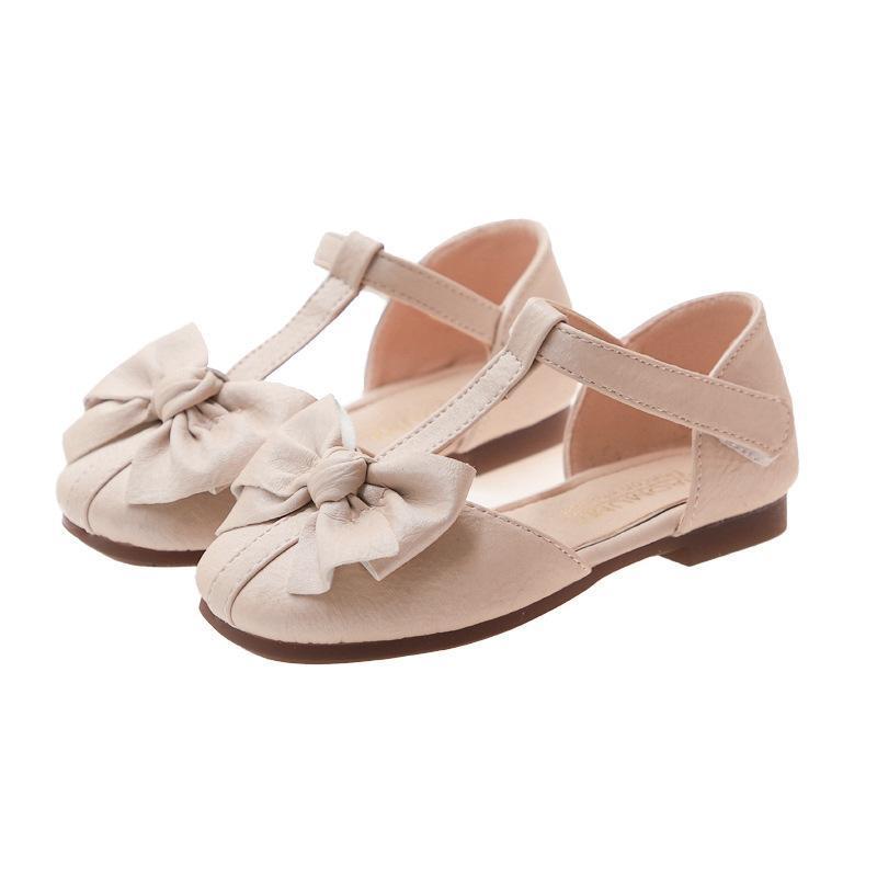 أحذية الأطفال بنات الصنادل 2021 الصيف لطيف بووتي لينة الجلود الأميرة الراحة للحديقة حجم 27-36