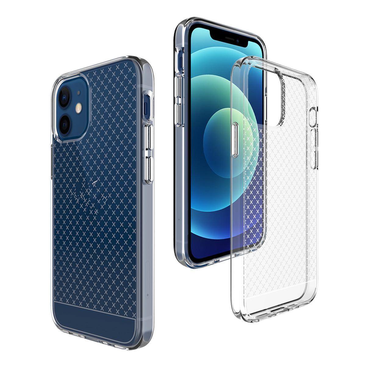 Прозрачные чехлы телефона TPU для iPhone 12mini 12 Pro Max Clear Compare Capord
