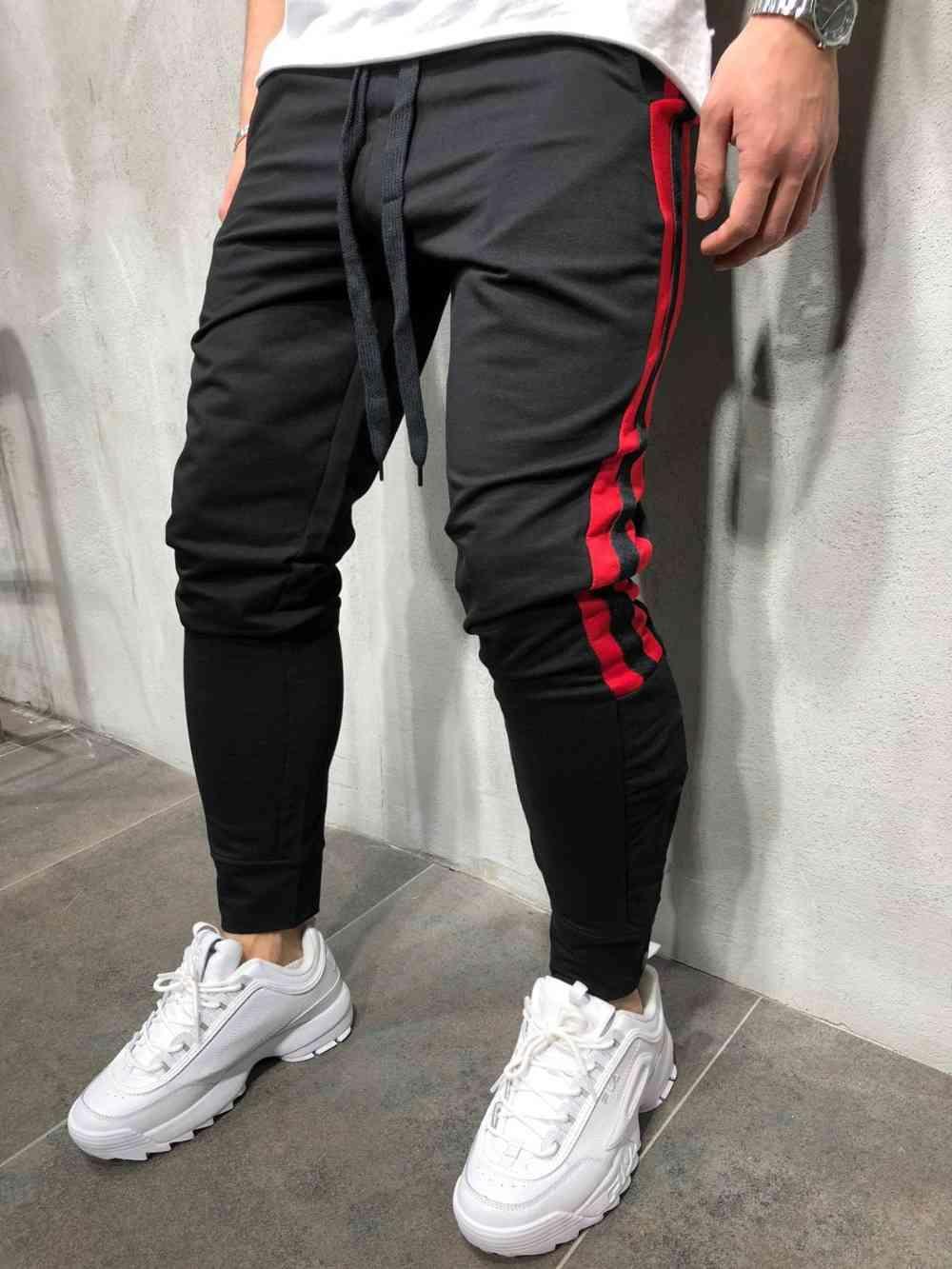 Hombre Gimnasio Culturismo Moda Hip Hop Street Pantalones Casuales Pantalones Rayados Pantalones Hombre Jogger Pantalones Hombres