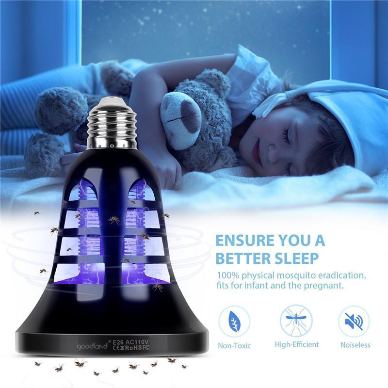 USB Elettrico Mosquito Killer Light Trap Bug Flying Insetto Pest Controllo Zapper Repeller Led Night Lights Home Soggiorno Moschette Repellente