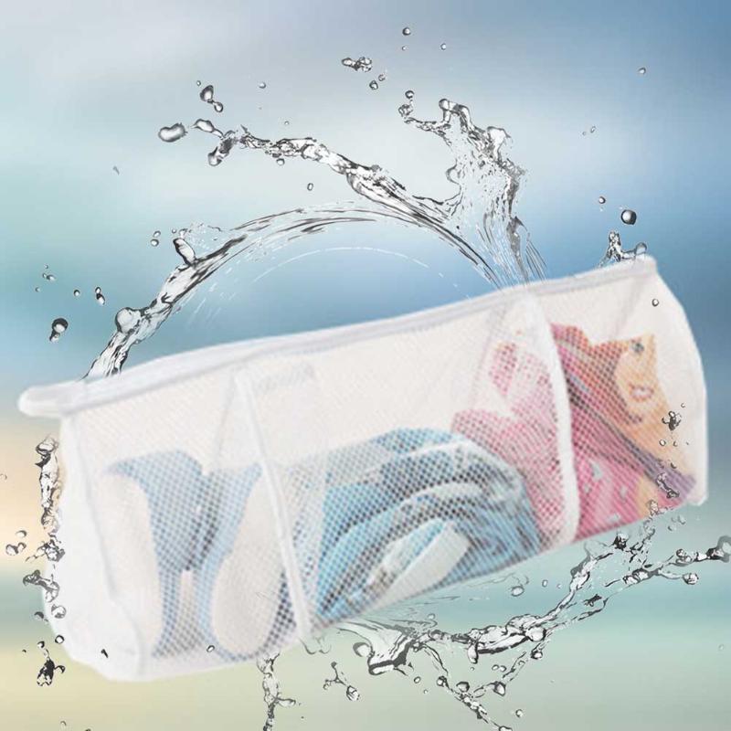 Atmungsaktive Waschmaschenbeutel Lagerung Wäscherei Tasche Große Kapazität Anti Deformation Badezimmer Faltbare Reißverschluss Partition Drucktaschen