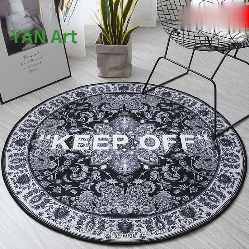 Carpets Circular Keep Off Flower Round Carpet Room Decoration Teenager Area Rug For Living Bedroom Floor Mat In The