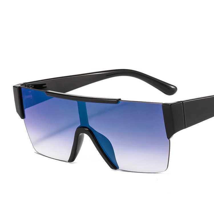 النظارات الشمسية 2021 الإطار الكبير المتضخم uv400 بدون شفة
