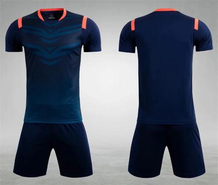 0191 Hommes Football Shirt Kits Jersey Soccer Jersey Taille adulte Taille à manches courtes Suit Jogging Tracksuit Set