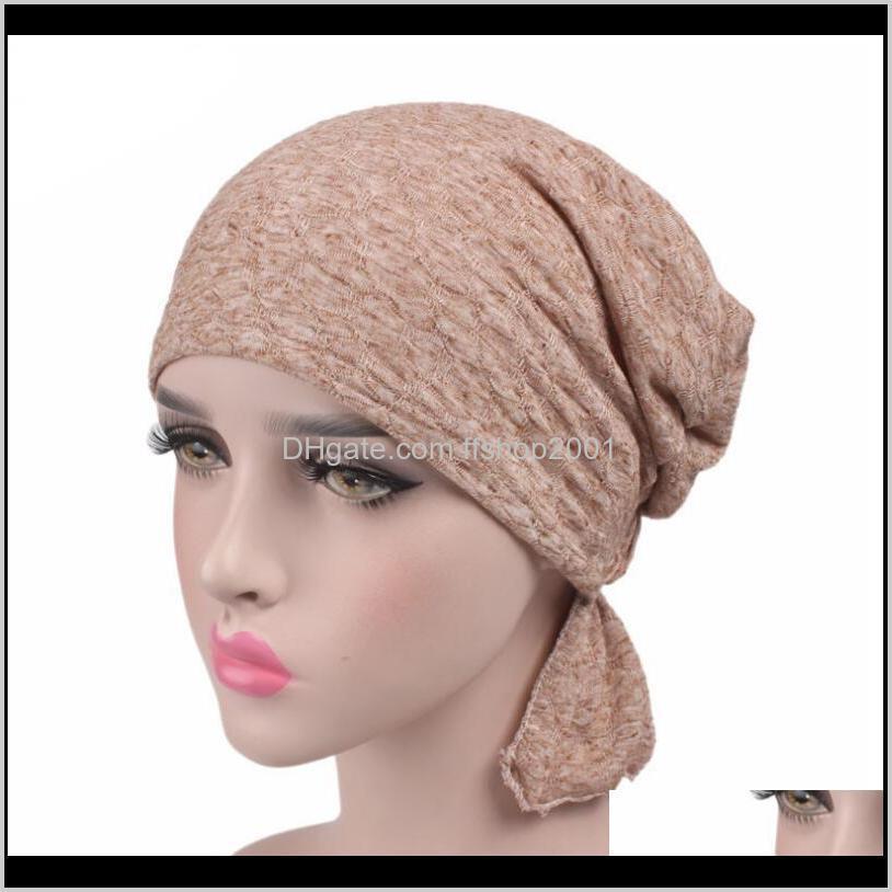 Beanie / Kafatası Şapkalar, Atkılar Eldiven Moda Aessories Türban Hindistan Caps Beanies Başkanı Wrap Chemo Şapkalar Bandana Düğümlü Kadın Şapkalar Bırak Deli