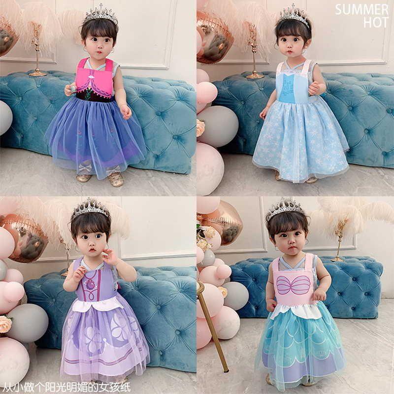 style Children apron Baby Draw Coverall Girls Waterproof Eating Bib Reverse Dressing E20293 210610