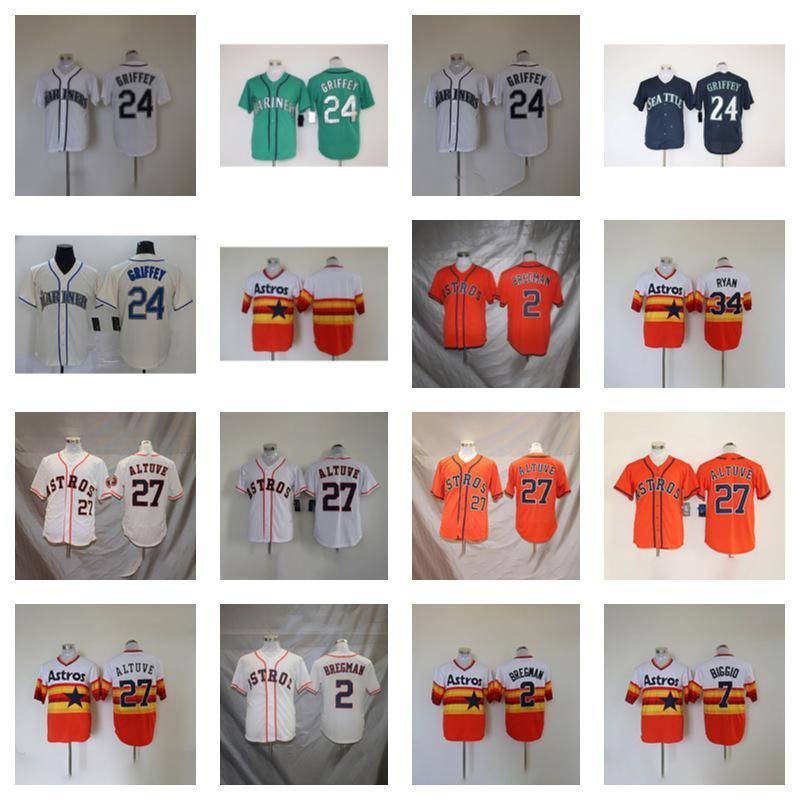 Baseball Uniform 24 Ken Griffey 2 Alex Bregman 27 Jose Altuve 7 Craig Biggio 4 George Springer