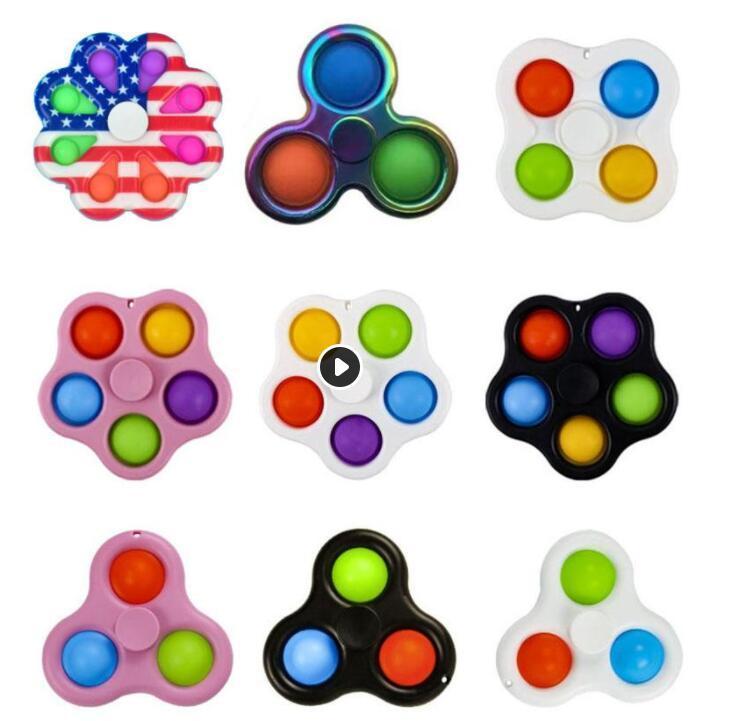 الولايات المتحدة الأسهم سبينر دفع سبيكة ABS تململ لعبة اليد fingertip gyro antistress for kids والبالغين ألعاب تعليمية مكافحة الإجهاد CJ15