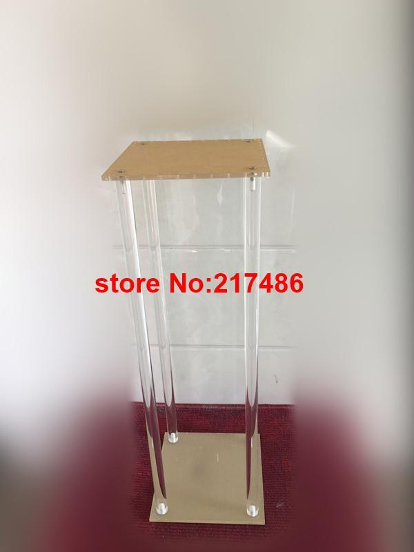Stand Only )Classic Acrylic Crystal Votive Candle Holder, Candlestick For Wedding Table Centerpieces Party Decoration