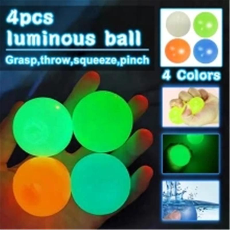 Jouets lumineux collants Strash Stress Soulagement Balles de décompression de plafond de plafond Toy 496