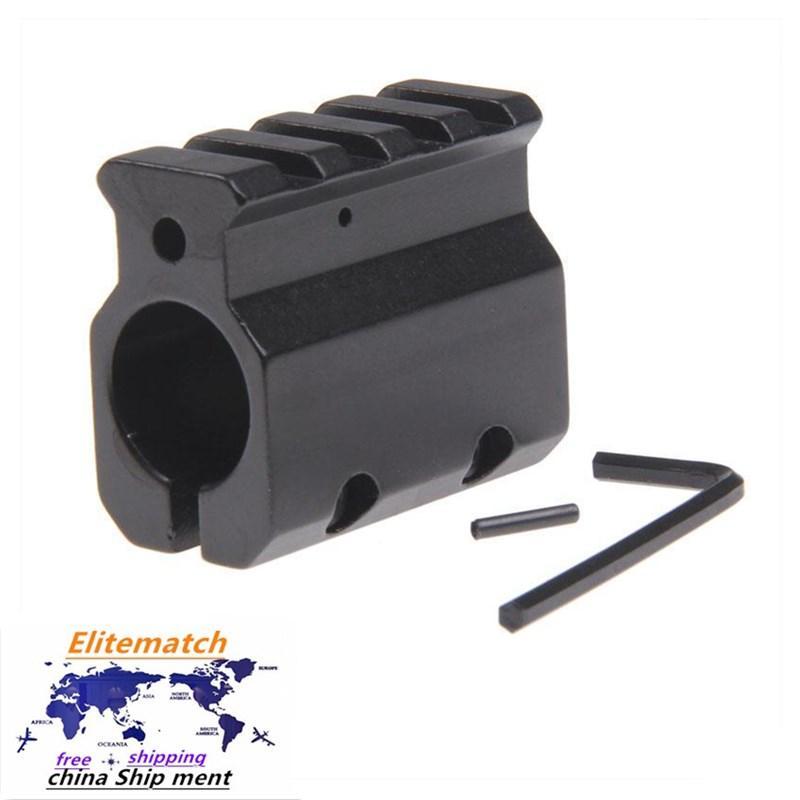 """Einstellbarer Gasblock Single 20mm Picatinny Schienenmontage .223 LR-308 Barrel .750 """"Innendurchmesser 0,75 Zoll"""