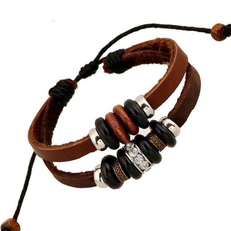 pulseira estilo pulseira de couro frisado moda jóias yiwu pequenas mercadorias