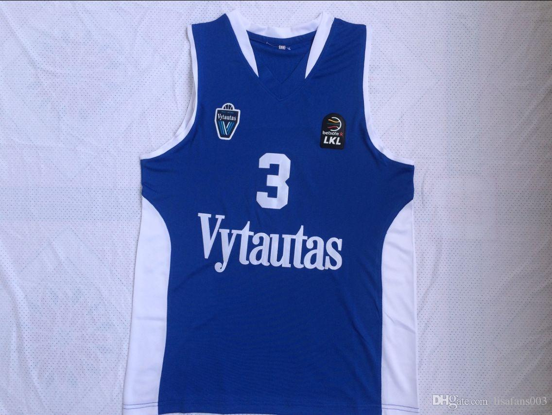 NCAA 3 Liangelo Ball Vytautas Camisa de baloncesto 1 Lamelo Jersey Uniforme Todo Colegio Stitched Lituania Prienu Blue